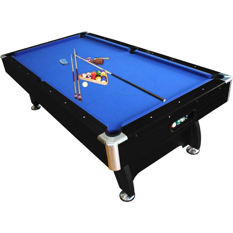 8ft MDF Billiards Snooker Table & Accessories Black