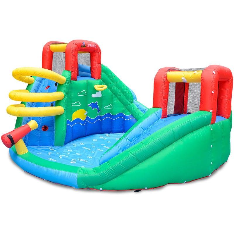 Atlantis Kids Inflatable Slide & Splash w Water Gun