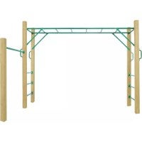 Amazon Monkey Bar Set w/ Wooden Post Play Equipment