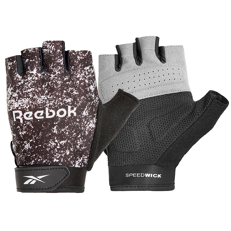 Reebok Womens Fitness Gloves - Black & White/Small