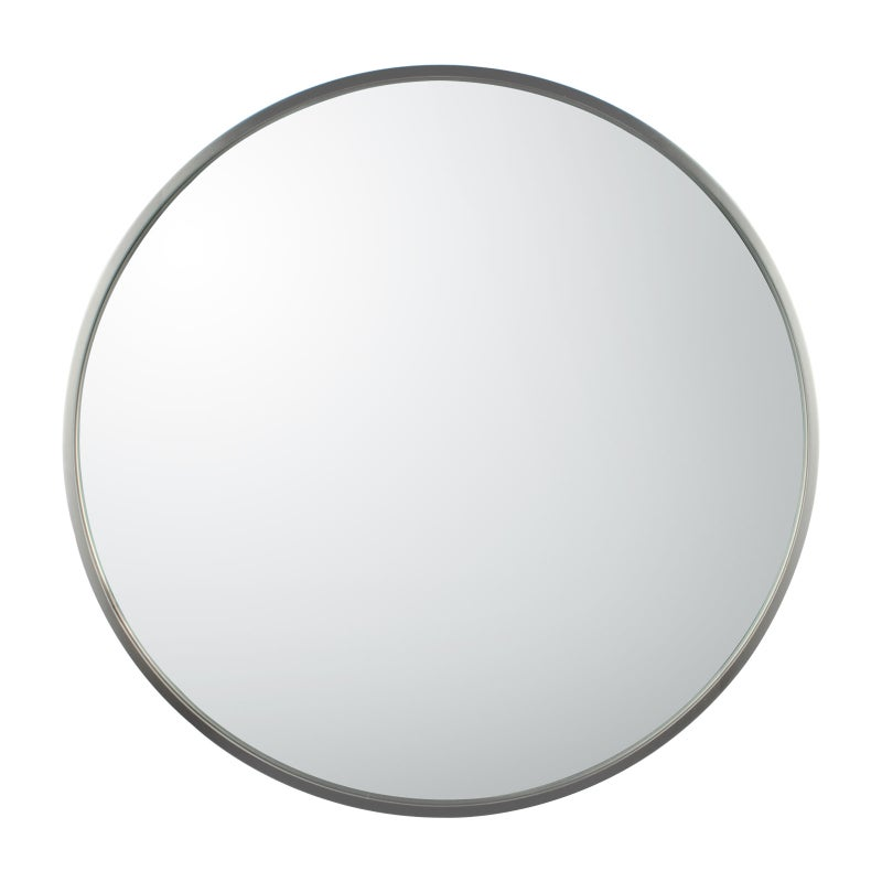 600x600x40mm Bathroom Mirror Brushed, Brushed Stainless Bathroom Mirror