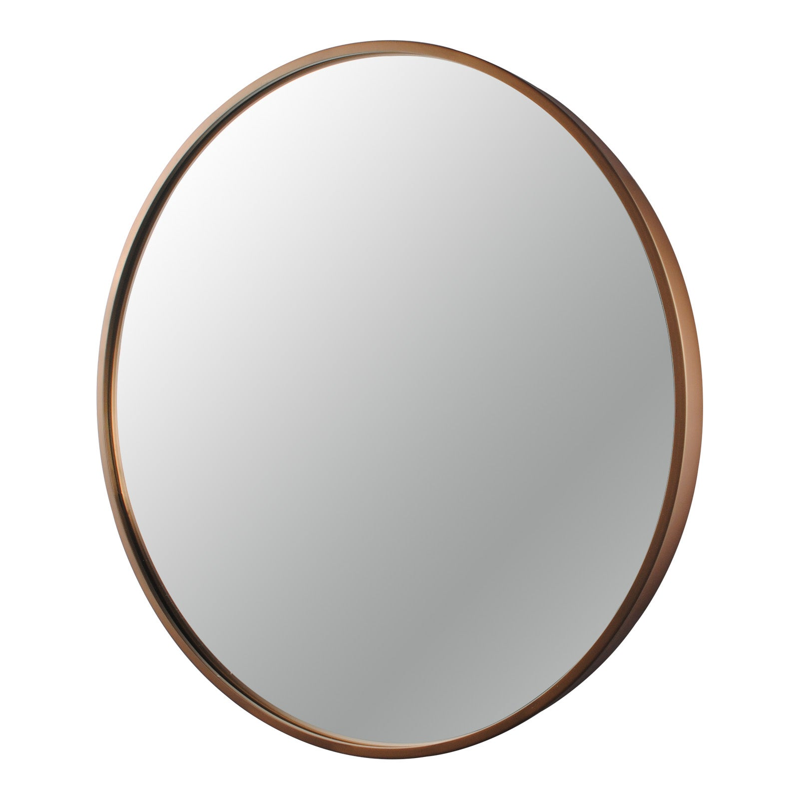 800x800x40mm Bathroom Mirror Rose Gold Stainless Steel Framed Round Wall Mirror with Brackets