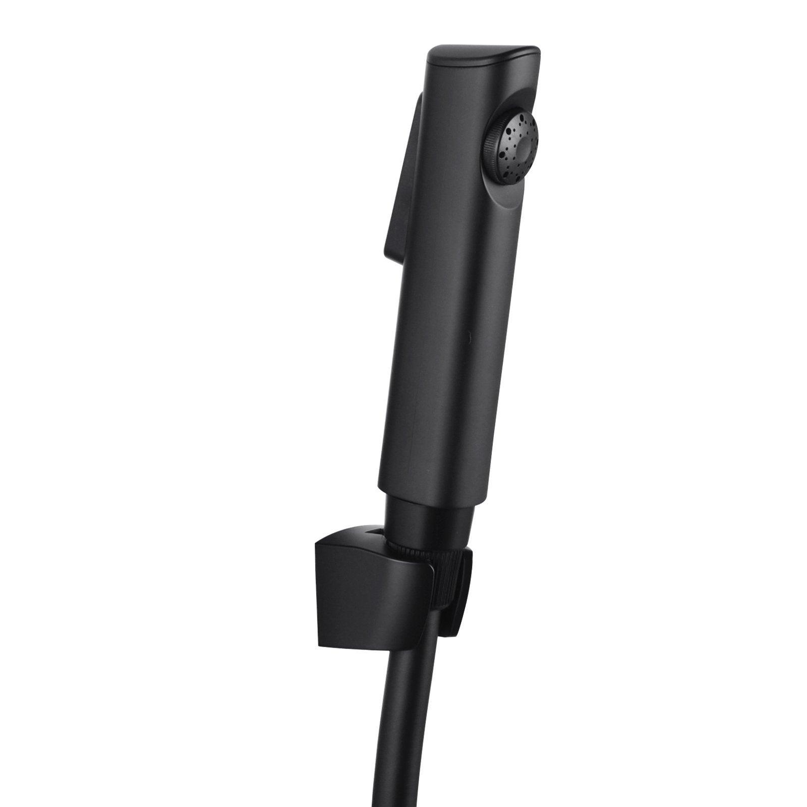 Bathroom Black ABS Handheld Toilet Bidet Spray Kit with PVC Water Hose