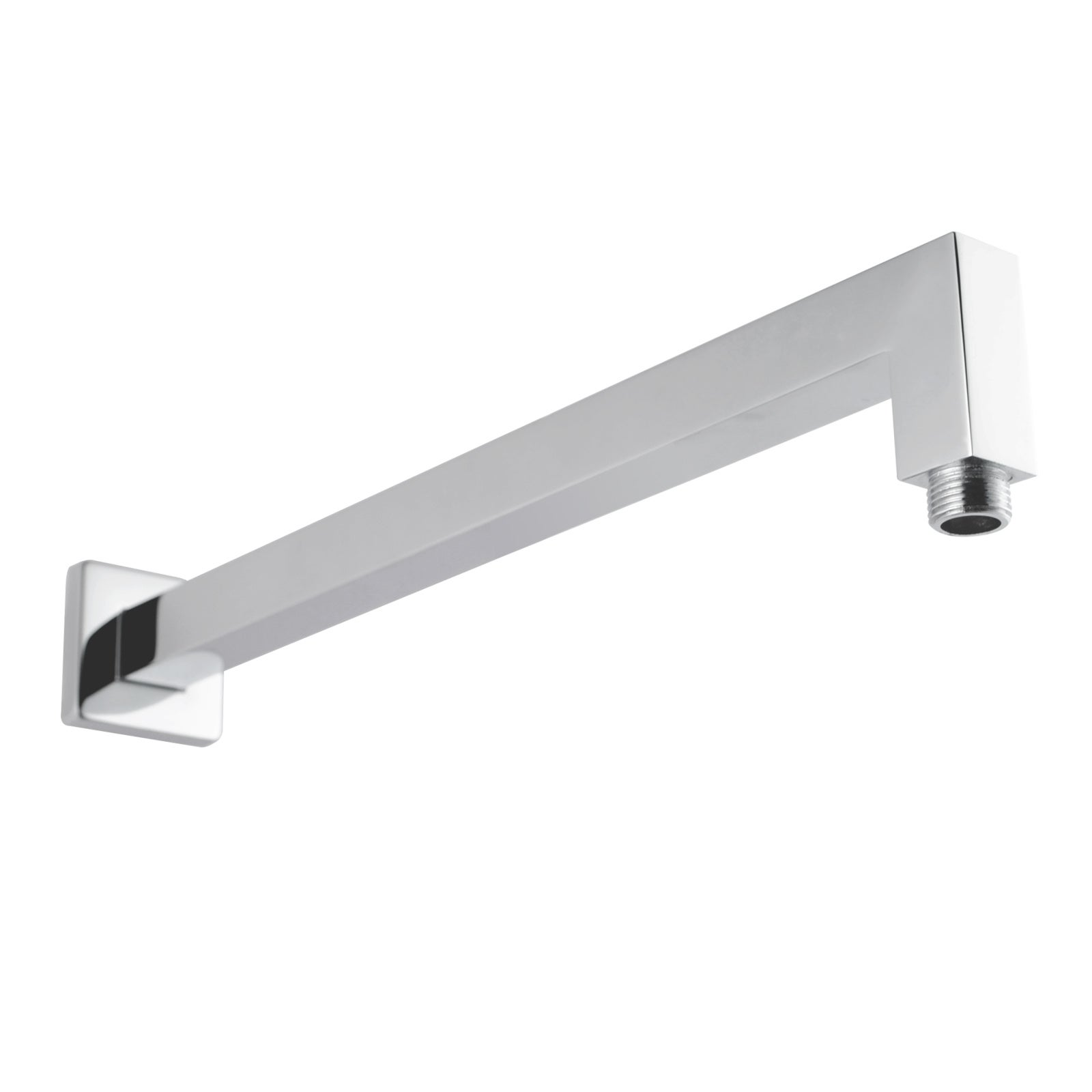 Female End Square Wall Shower Arm Straight 400mm