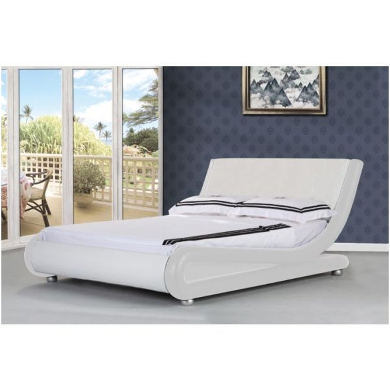 Orkney Queen Pu Leather Bed Frame In, Istyle Mallorca Queen Bed Frame Pu Leather Black