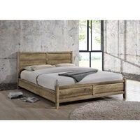 Alice Double Size Modern MDF Wood Bed Frame in Oak Tone (Pre-sale, ETA 1st December 2020)
