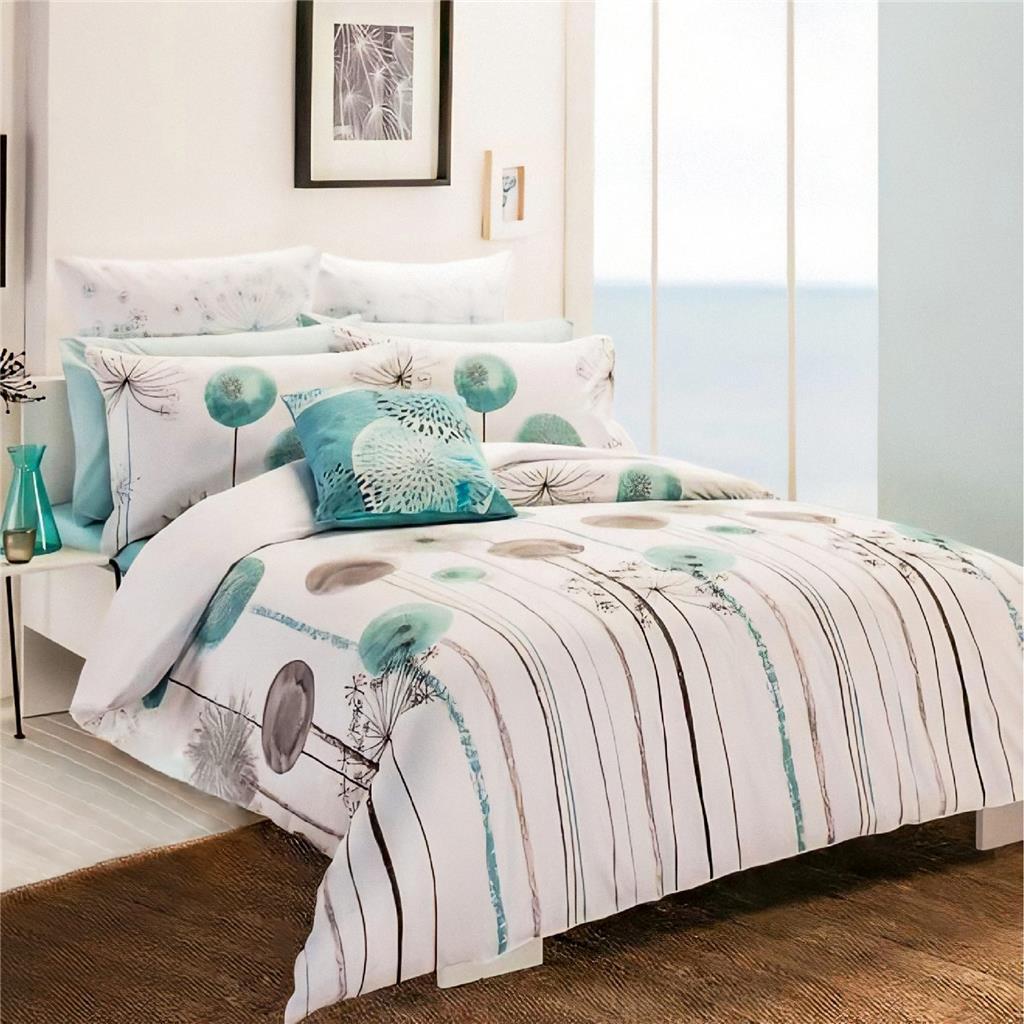 Romantic Dandelion Design Cotton Quilt Doona Duvet Cover Set