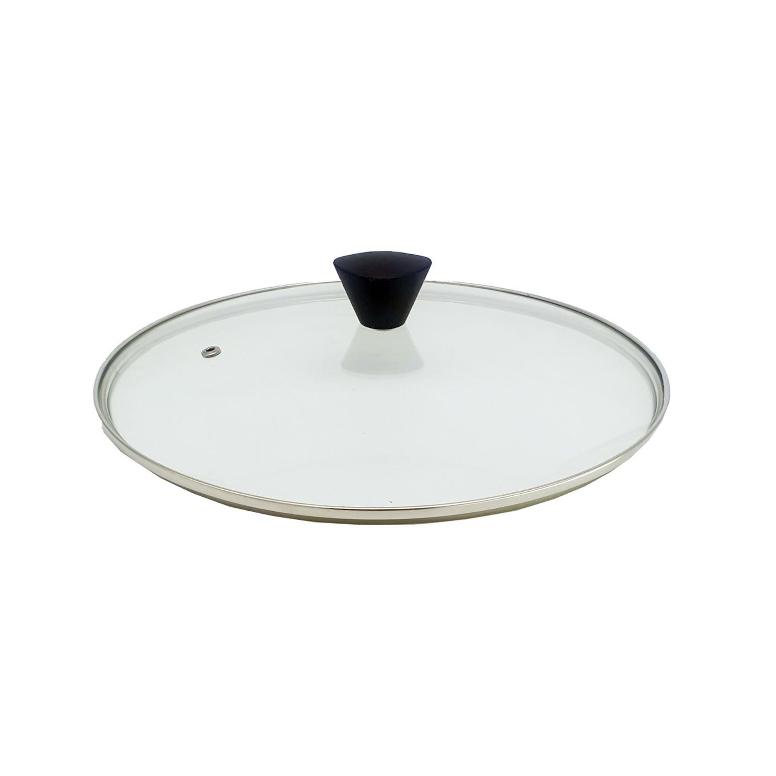 KOMAN Stainless Steel Glass Lid - 28cm