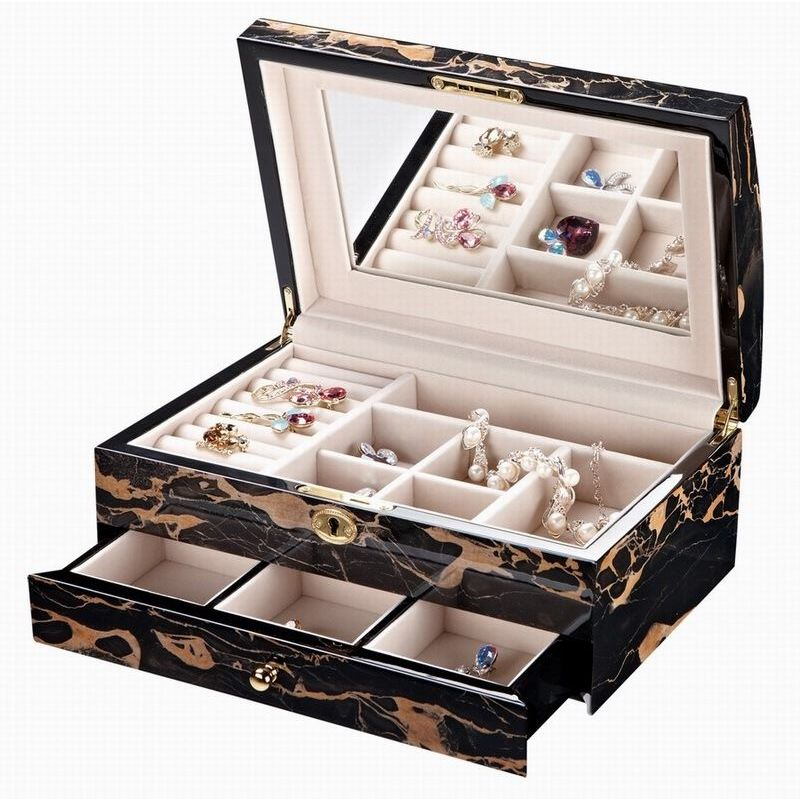 Classic High Gloss Wooden Jewellery Box