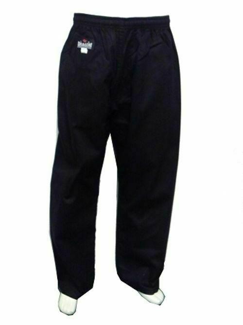 DRAGON Karate Pants Martial Arts Pants Black Gi Pants (8Oz) Kids to Adults Size