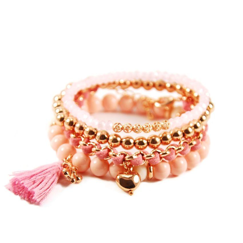 Avalon Autumn Pink Rose Gold Bracelet