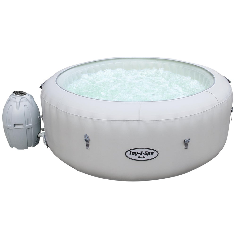 Bestway Inflatable Spa Lay Z Hot Tub 4-6 People Portable Massage Pool with Remote LED Strip Light