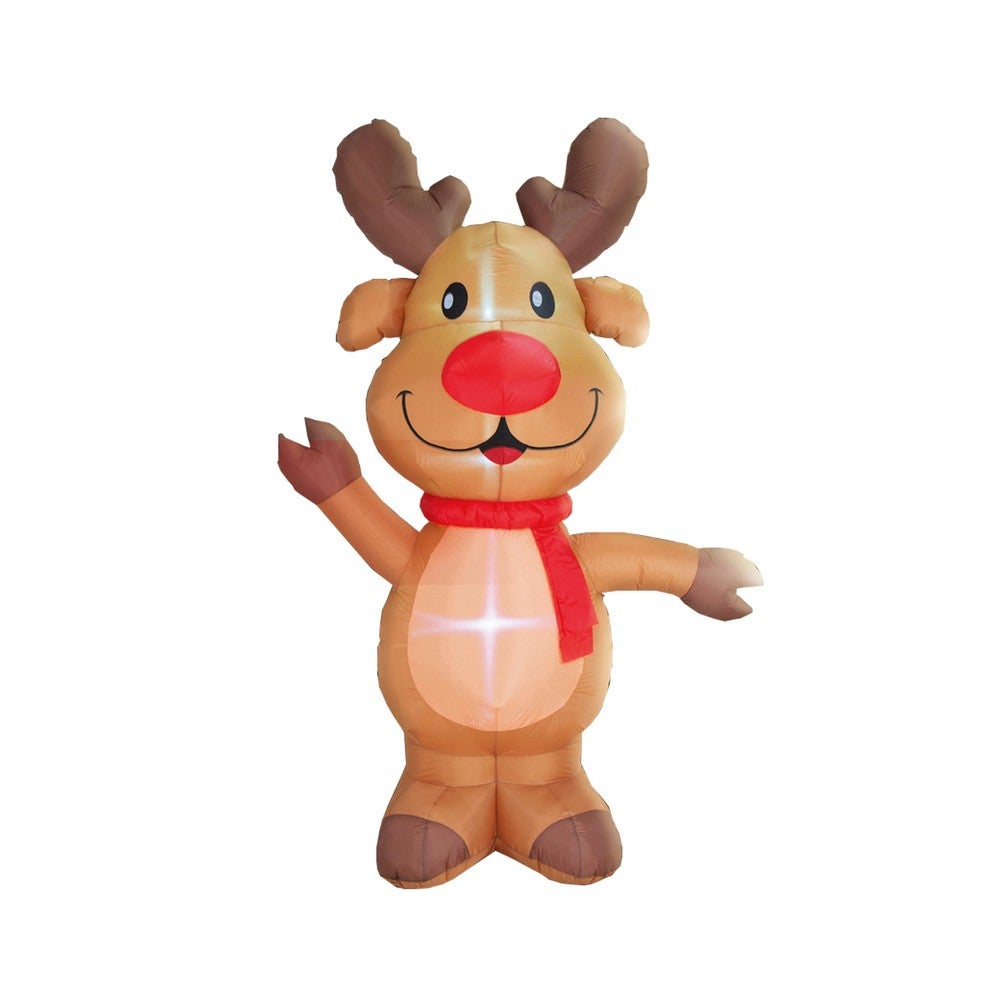Stockholm Christmas Lights 2.4M LED Inflatable Cute Reindeer Outdoor Garden Xmas Decoration