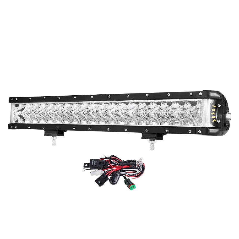 LIGHTFOX 22inch LED Light Bar Spot Flood Side Shooter Driving Offroad 4x4