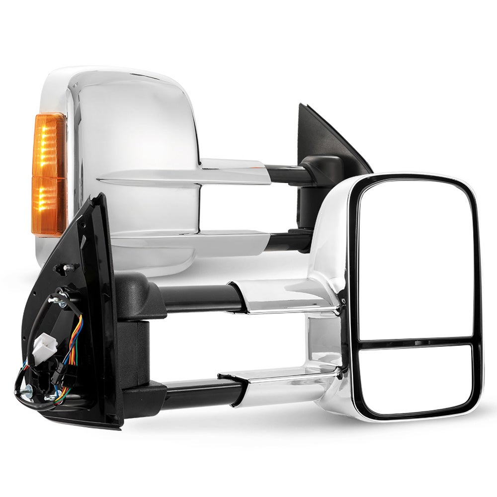 SAN HIMA Pair Towing Mirrors Extendable for Holden Colorado 2012 - ON