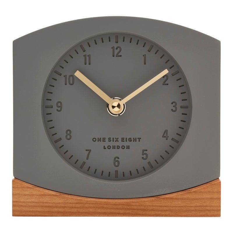 CHARLOTTE Grey Silent Mantel Clock