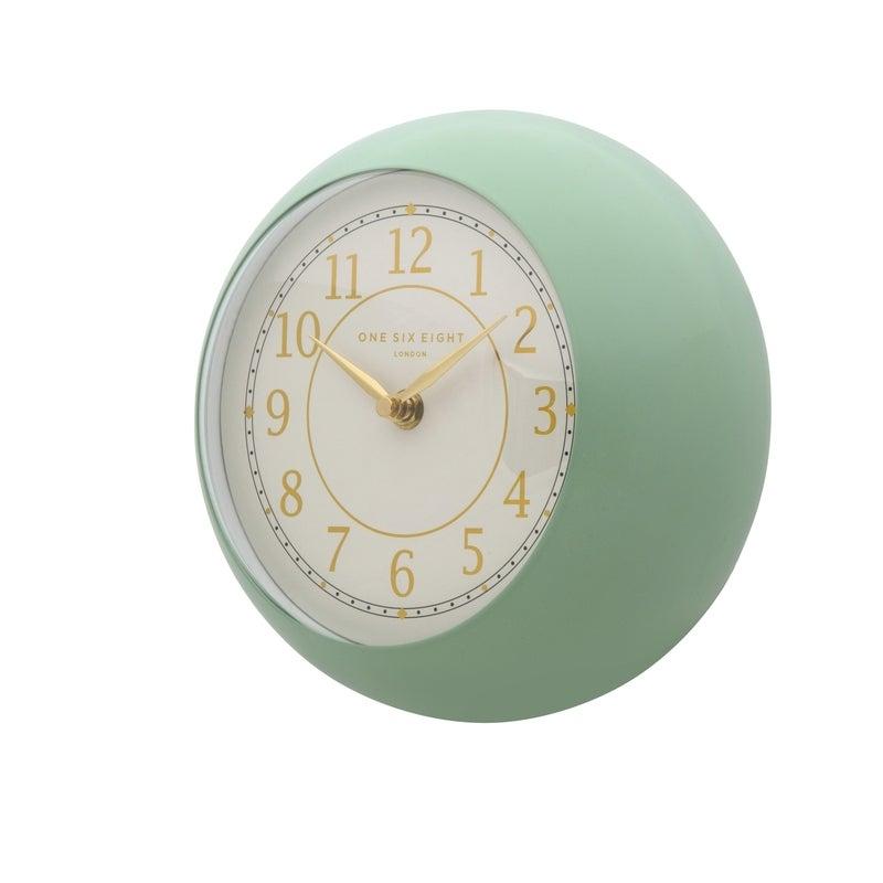 EMILY Sage 21cm Metal Wall Clock