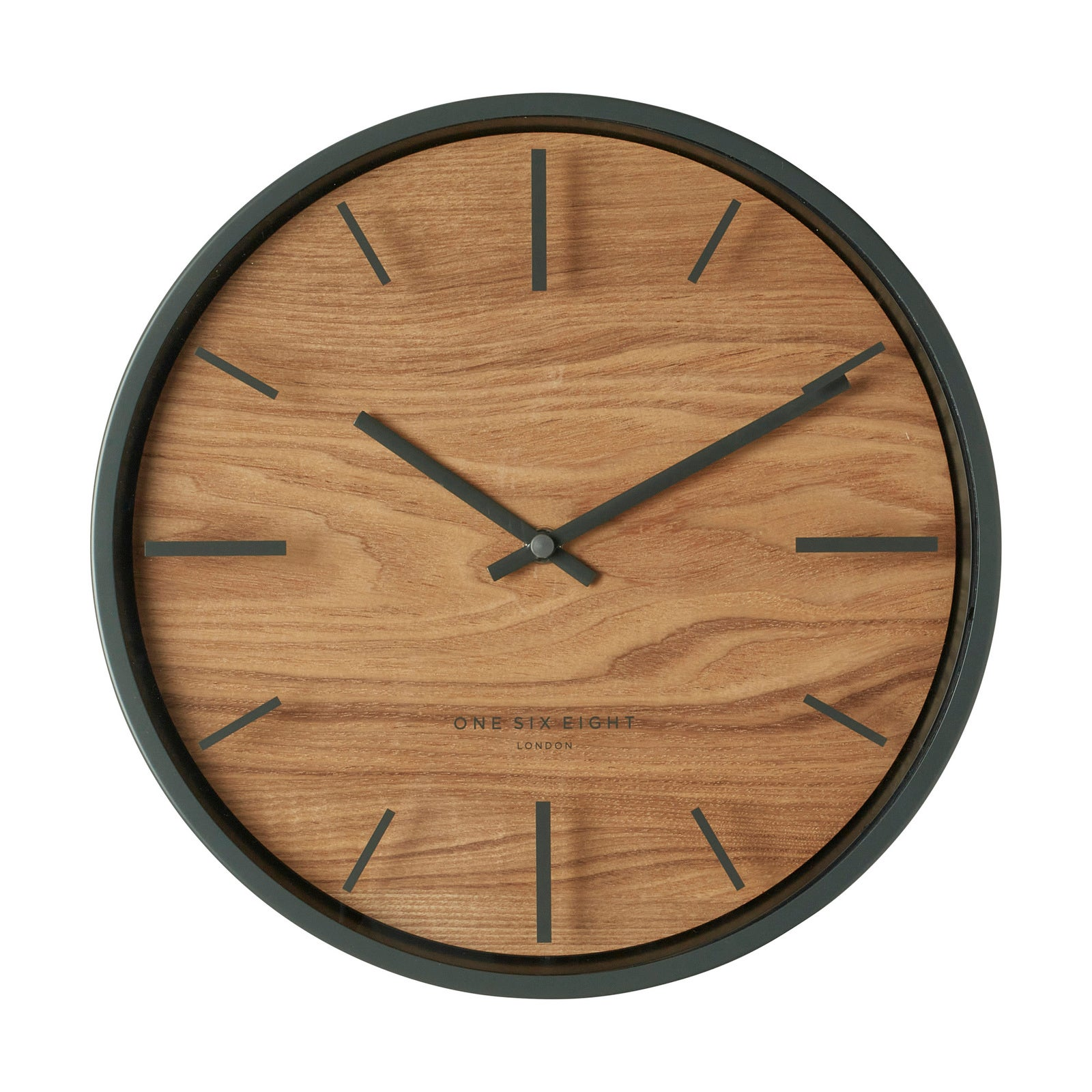 WILLOW Charcoal 30cm Silent Wall Clock