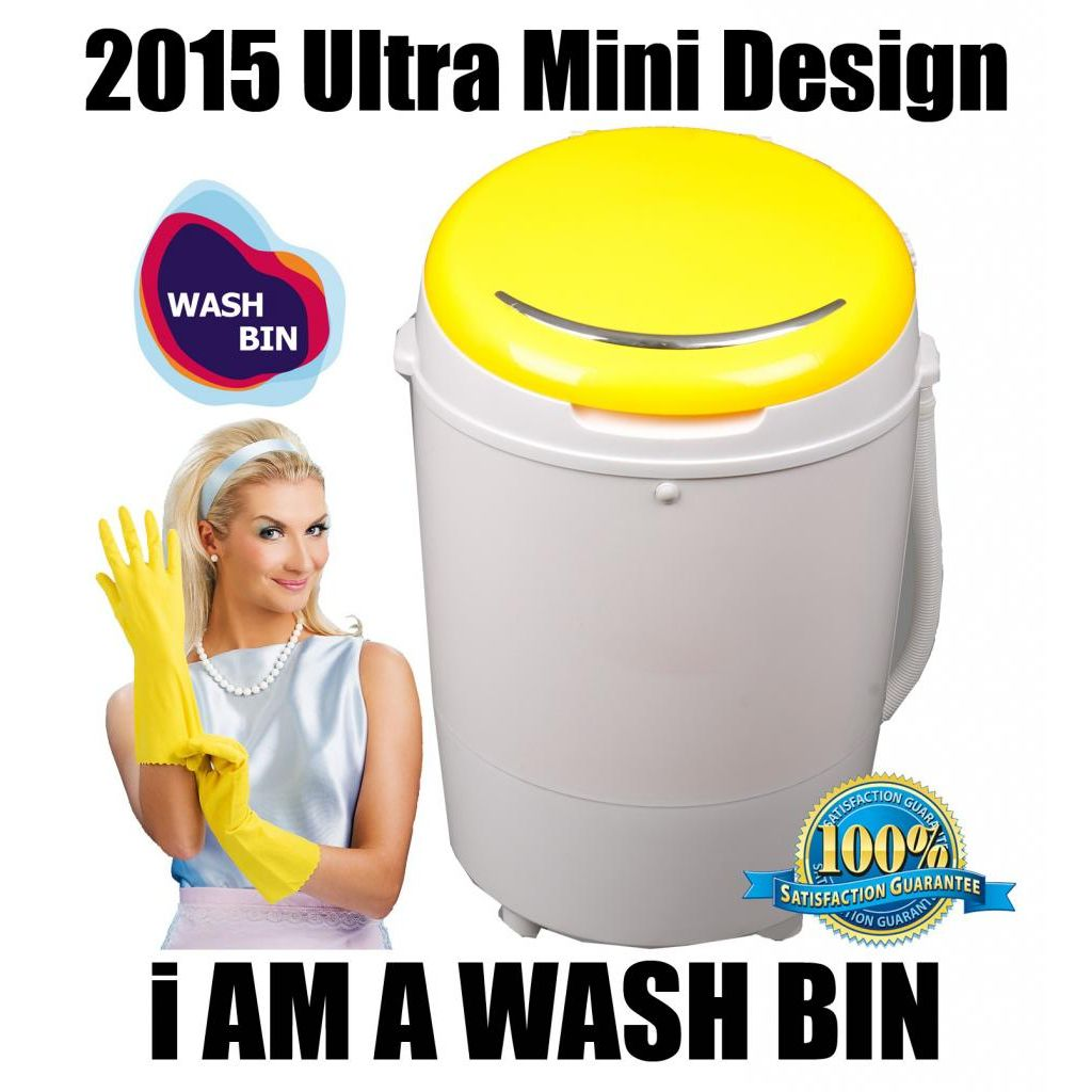 Mini Portable Camping 2-in-1 Washing Machine Dryer