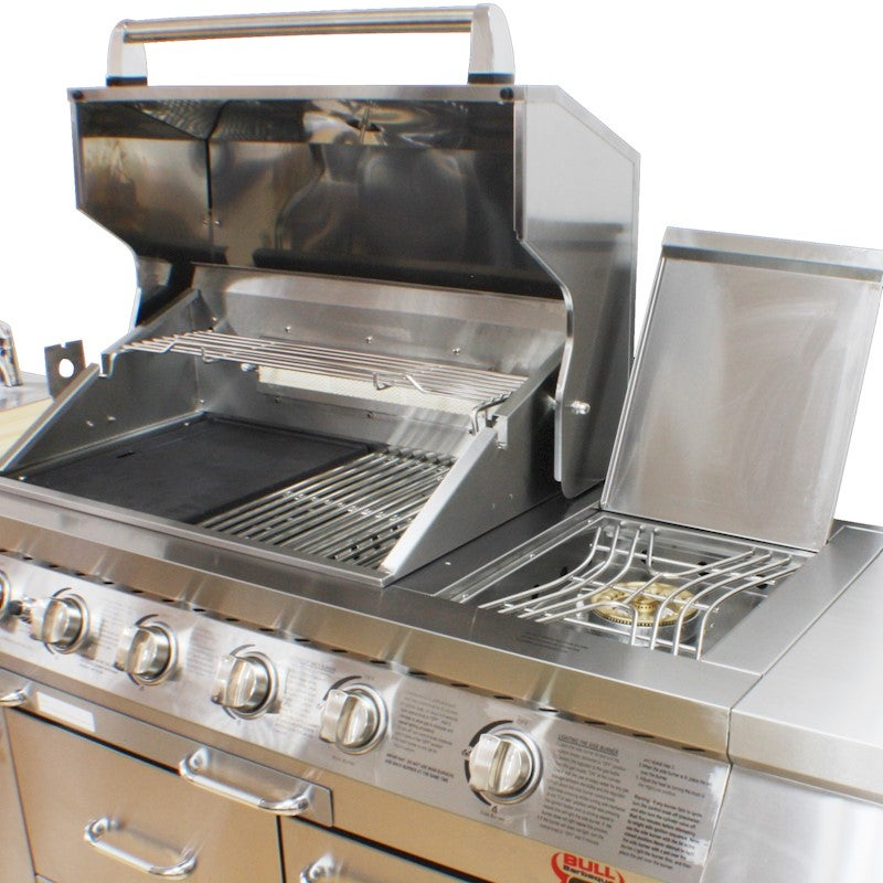 Bull Bbq Stainless Steel Outdoor Long Grill Kitchen Buy Gas Bbq 113717