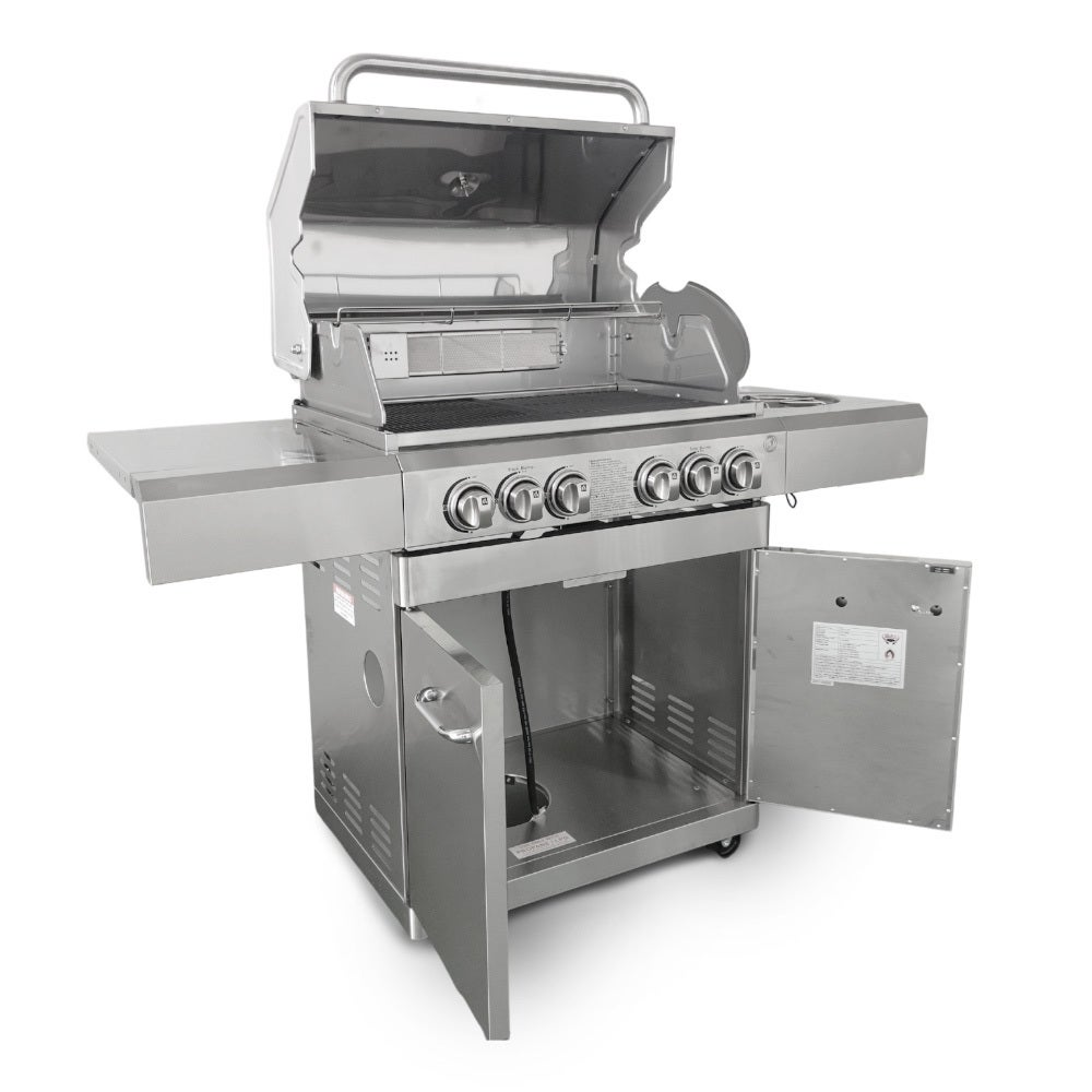 Bull BBQ Stainless Steel Deluxe Compact 6 Burner