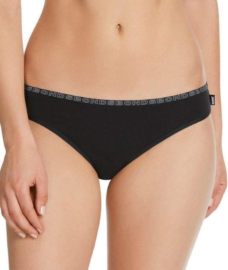 10 Pack Bonds Hipster Bikini Briefs Womens Underwear - Black W1089s