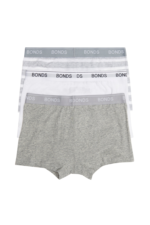 12 x Mens Bonds Guyfront Trunk Trunks Underwear – Grey Stripe