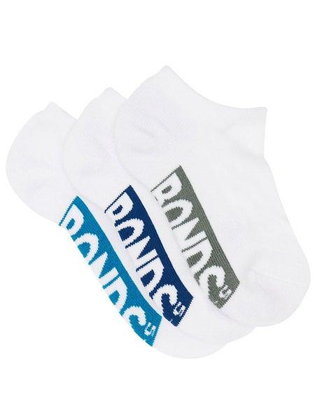 3 PACK BONDS KIDS SOCKS Boys Low Cut Sports White Aqua Blue Grey PK1