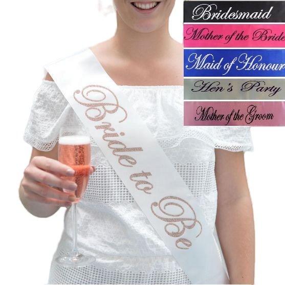 Bridal Sashes Hens Night Engagement Bride To Be Bridesmaid Maid Of Honour