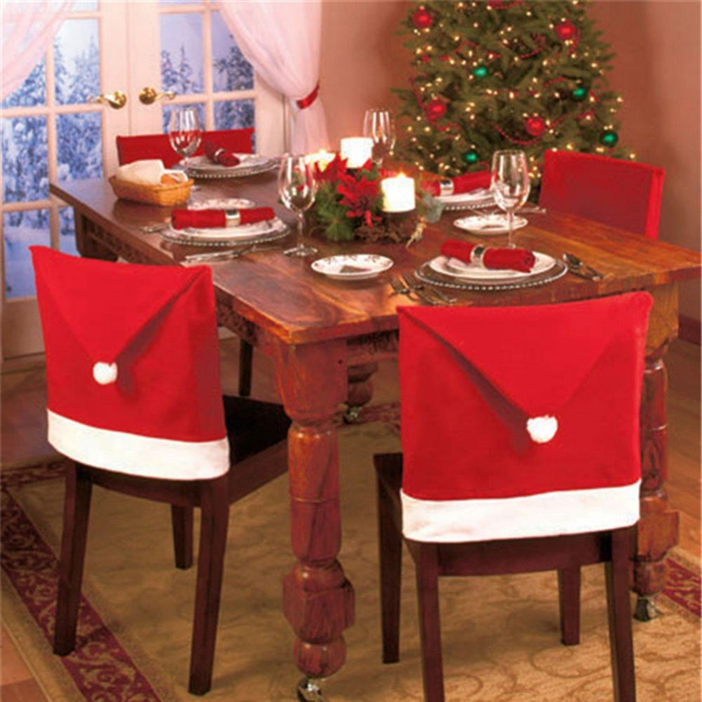 6 Piece Christmas Chair Cover Set