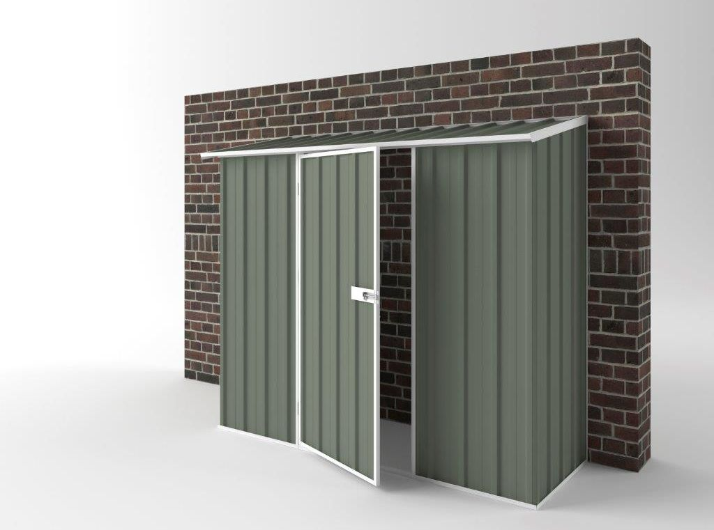 EasyShed Off The Wall Garden Shed 2.25m (w) x 0.78m (d) x 1.95m (h) in Colour