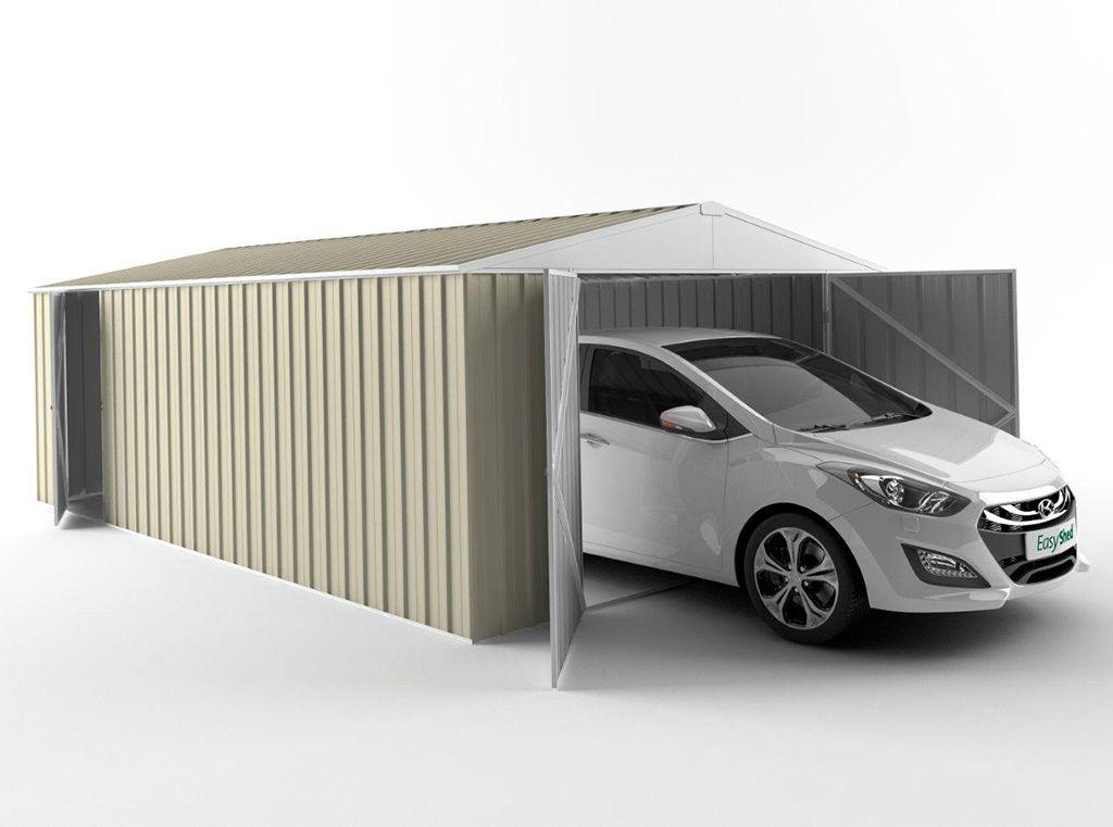 EasyShed Tall Garage Shed 7.50m (w) x 3.00m (d) x 2.40m (h) in Colour