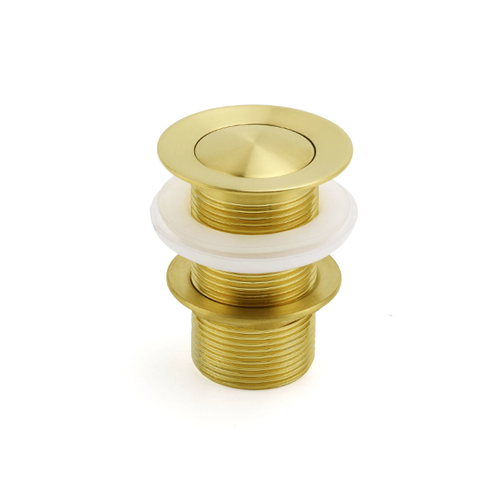 Watermark 32mm Pop Up Push Waste Plug No Overflow Basin Sink Drain Brushed Gold
