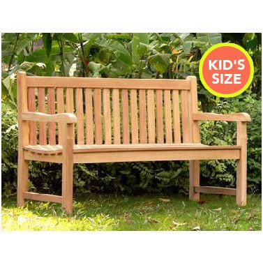 Outdoor Itty Bitty Teak Wood Park Bench for Kids