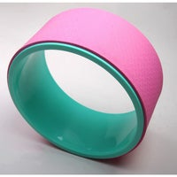 Yoga Wheel Dharma Circle Prop Relieves Pain Stress Back Hips Training Pink