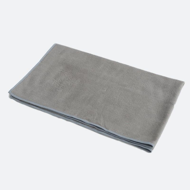 Yoga Pilates Hand Towel Mat Workout Absorbing Microfiber 67Cm Grey
