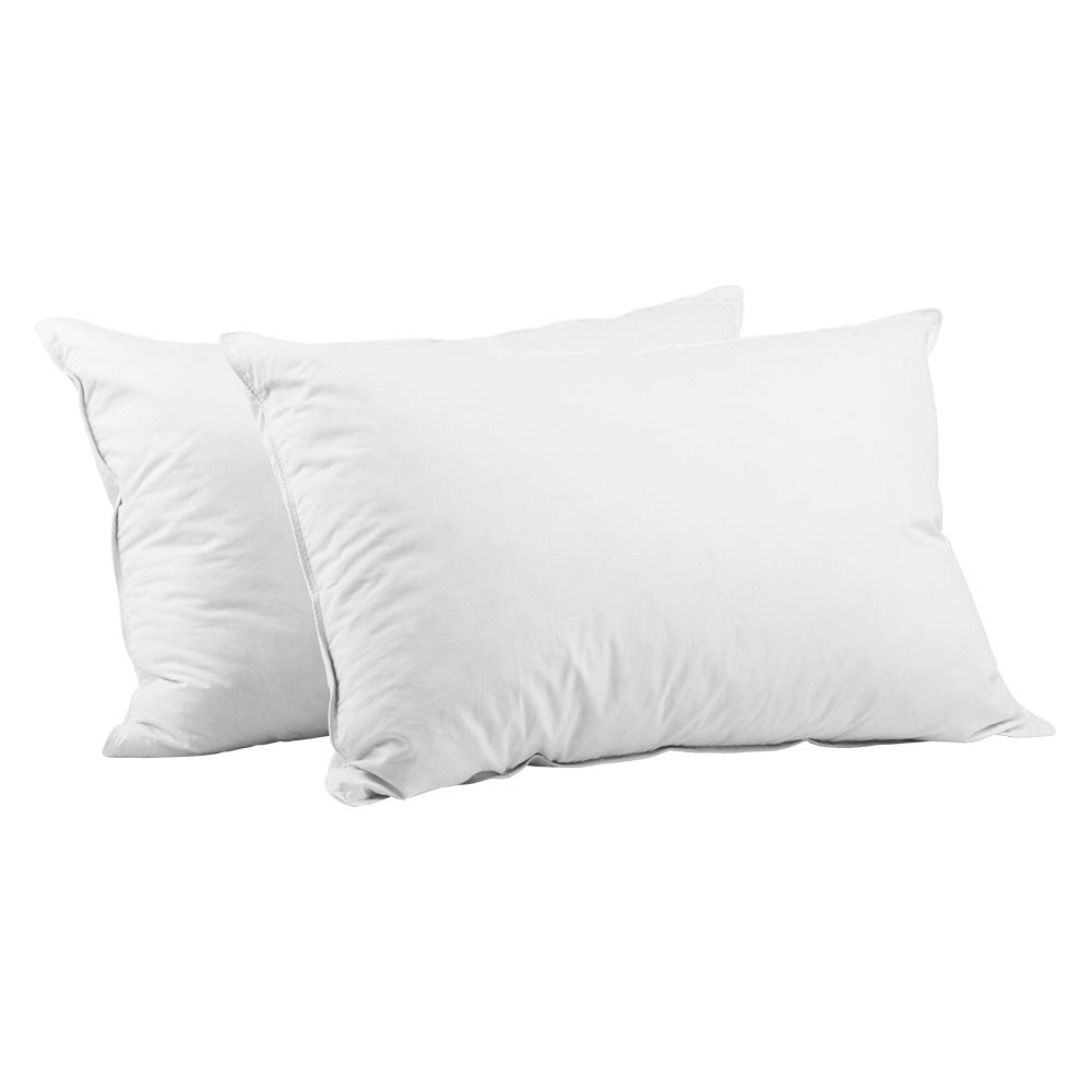 Giselle Bedding Pillow Goose Down Feather Pillows Twin Pack Standard Home Hotel