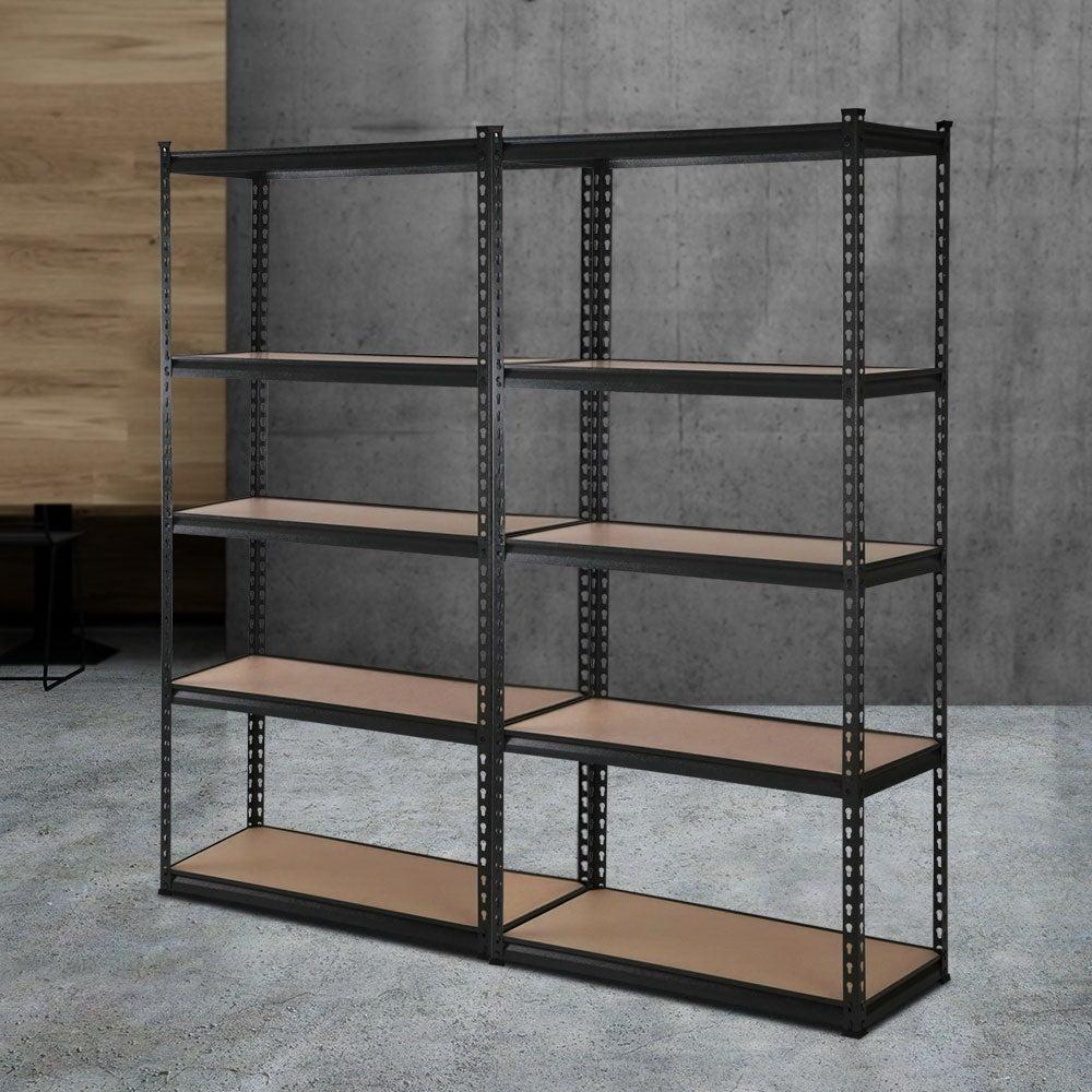 Giantz 2x1.5M Warehouse Shelving Rack Storage (Black)