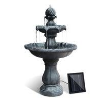 Solar Water Fountain Pump Garden Bird Bath Outdoor Feature Black