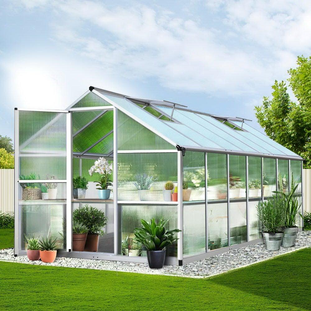 4.22x2.5M Aluminium Greenhouse Polycarbonate Greenhouses Green House