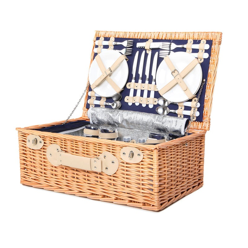 4 Wicker Person Picnic Basket Baskets Outdoor Insulated Blanket Buy Picnic Baskets Blankets 9350062082300