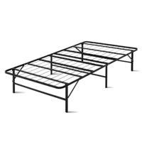 Artiss King Single Folding Bed Frame Metal Mattress Base Portable Black Platform