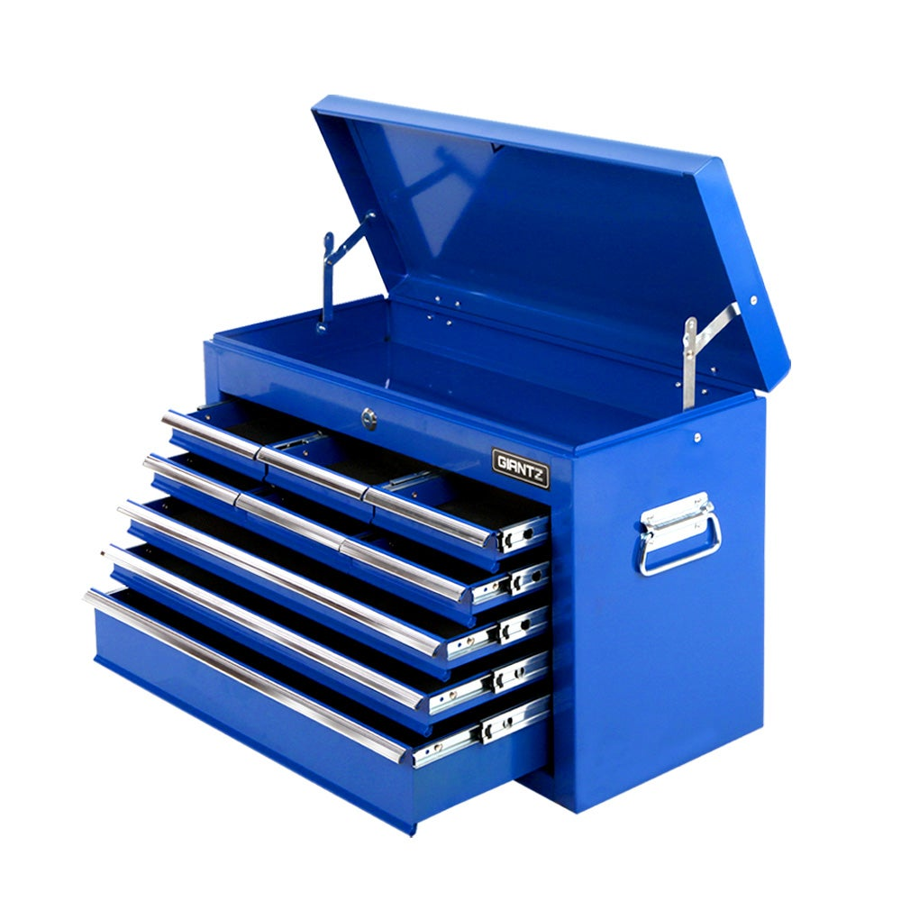 Giantz Tool Chest Cabinet Box 9 Drawers Toolbox Storage Garage Blue