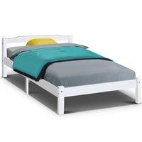King Single Size Wooden Bed Frame Mattress Base Timber Platform