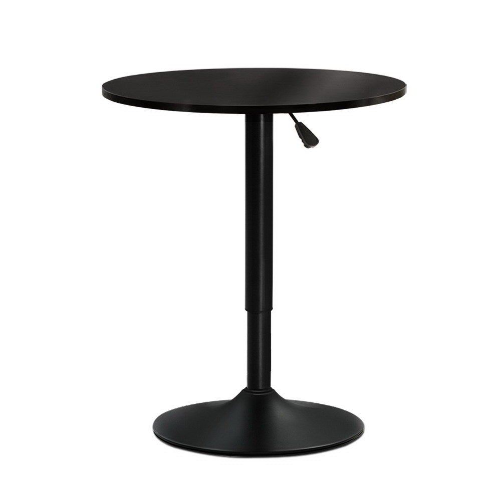 Artiss Bar Table Gas Lift Adjustable Kitchen Cafe Banquet Tables Pub Metal Black