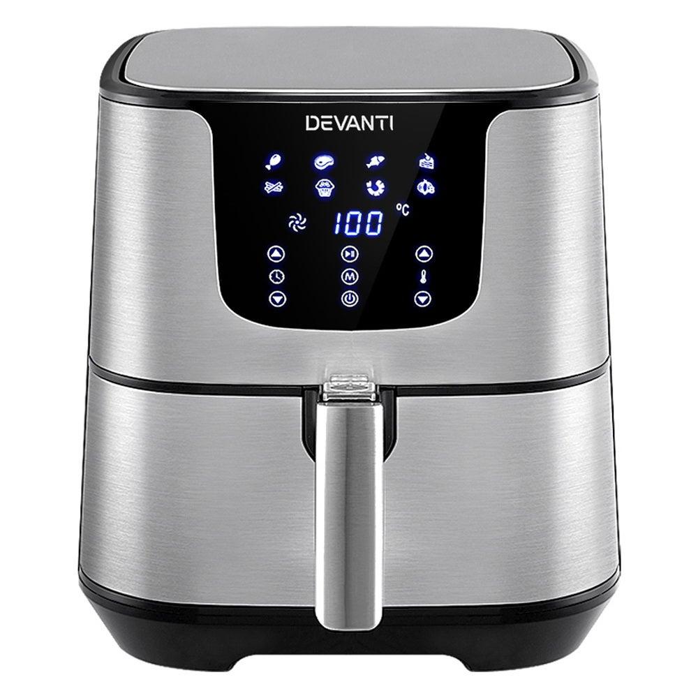 Devanti Air Fryer 7L LCD Fryers Kitchen Oven Airfryer Oil Free Healthy Cooker