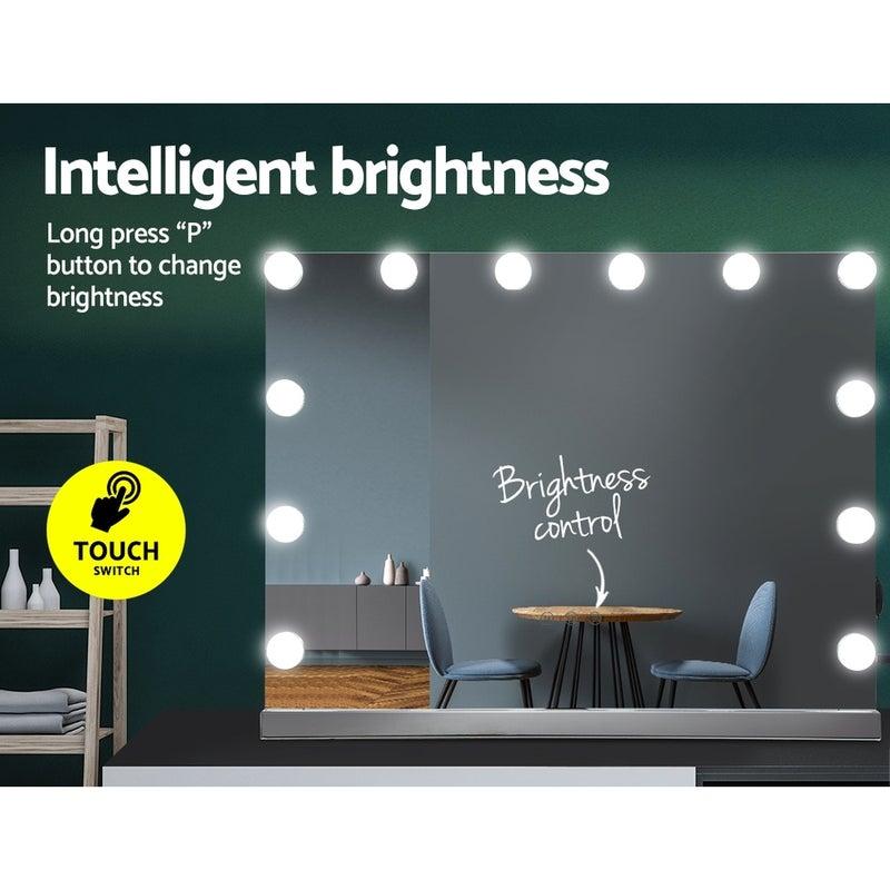 Embellir Hollywood Makeup Mirror With, Hollywood Vanity Mirror Frameless
