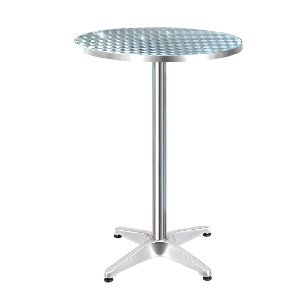 Bar Table Outdoor Indoor Furniture Adjustable Aluminium Pub Cafe Round
