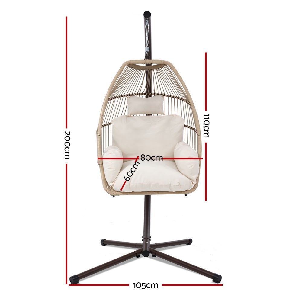 Mid Century Rattan Chair, Outdoor Furniture Egg Hanging Swing Chair Stand Wicker Hammock Buy Hammocks 9350062282205