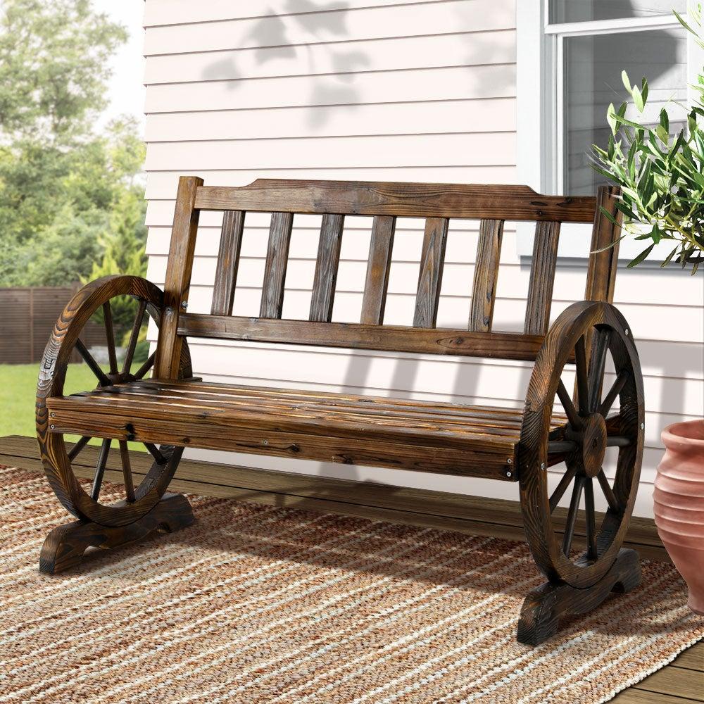 Gardeon Wooden Wagon Garden Bench Seat Outdoor Lounge Chair Patio Furniture